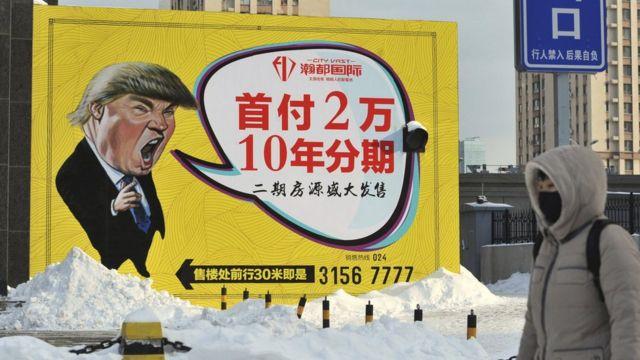 Một tấm biển quảng cáo ở Trung Quốc