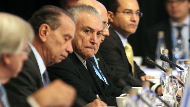Michel Temer no encontro do Mercosul, em Mendoza