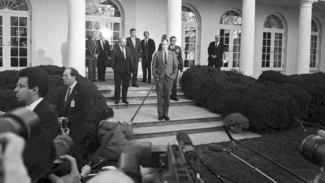 George H.W. Bush en la casa Blanca.
