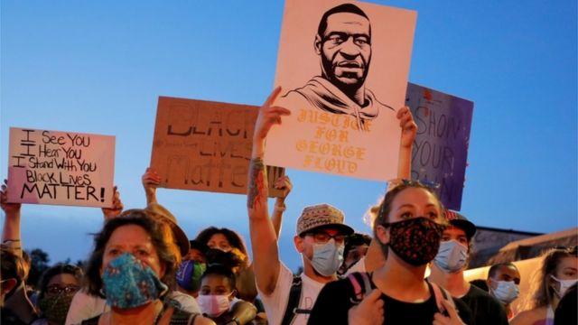 Manifestación por la muerte de George Floyd.