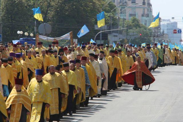 Украинские священники в Киеве