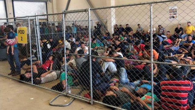 US migrant centres: Photos show 'dangerous' overcrowding