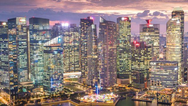 วิวยามค่ำคืนในสิงคโปร์