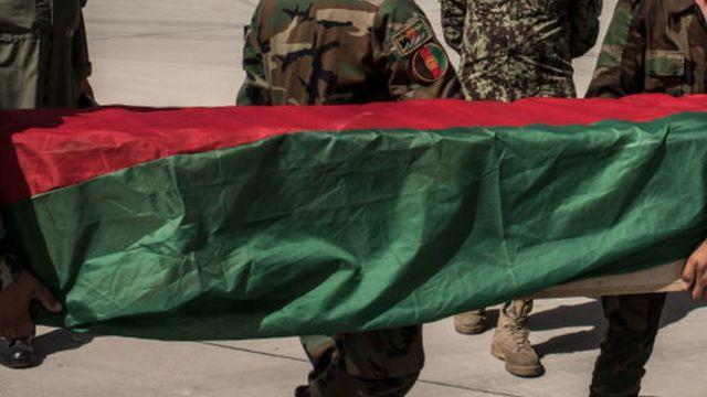 تابوت سرباز افغان