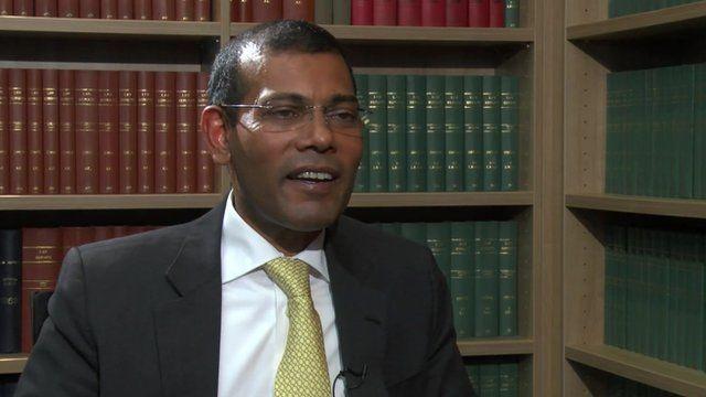 Former Maldivian president Mohamed Nasheed