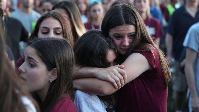 Ceremonia de recuerdo a las víctimas del tiroteo de la escuela de Parkland, Florida