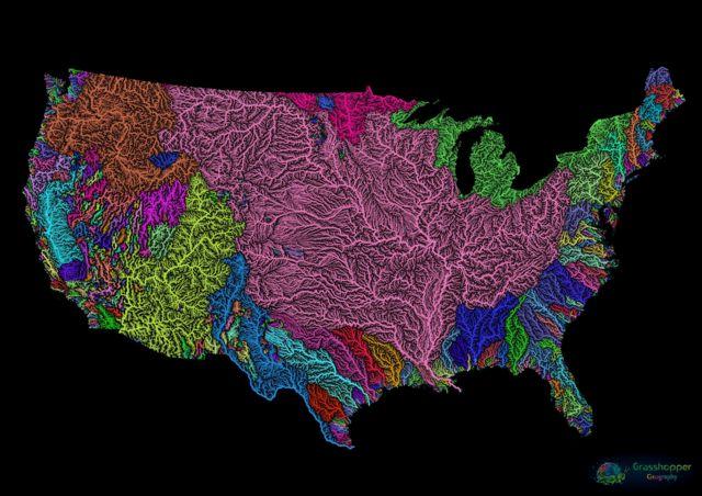 map dos EUA