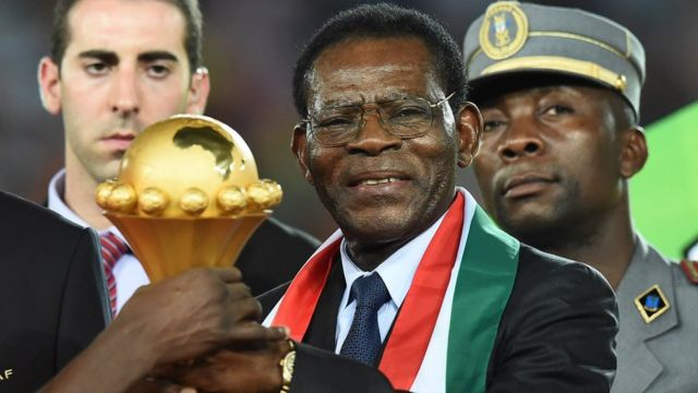 El presidente de Guinea Ecuatorial, Teodoro Obiang Nguema Mbasogo