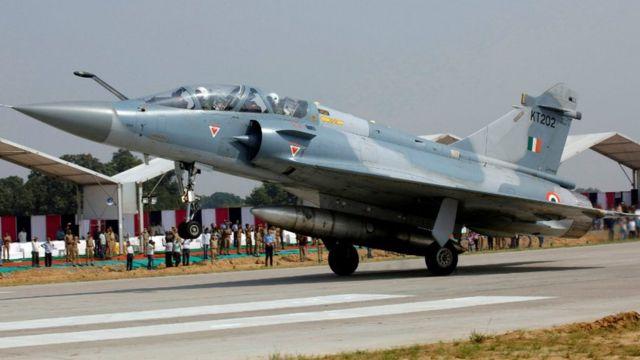 Avión de combate Mirage 2000 de la Fuerza Aérea india