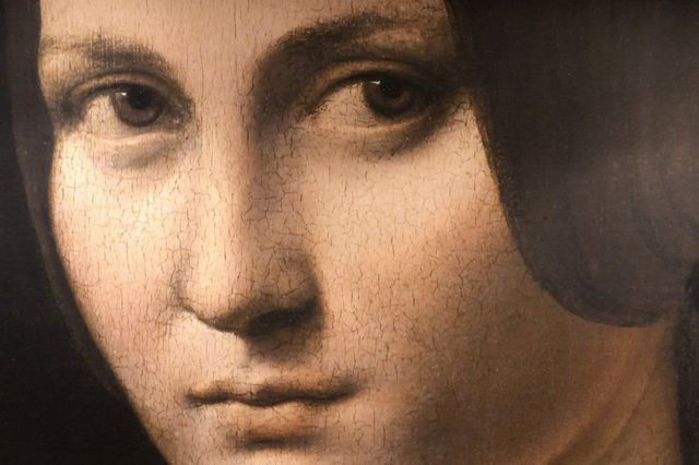 La belle ferronnière - a portrait of a lady from the court of Milan - is a work attributed to Renaissance artist Leonardo da Vinci