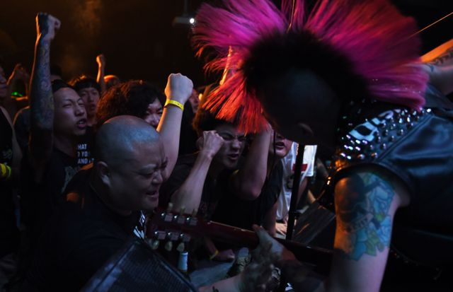 Hell City at the Beijing Punk Festival in 2014