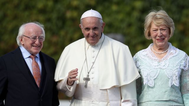 Папа римский с президентом Ирландии