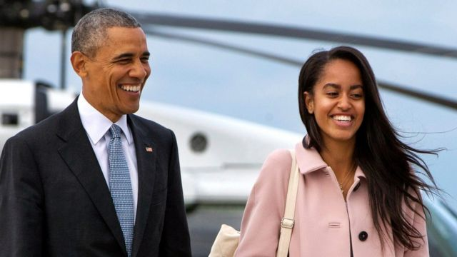President Barack Obama with his daughter Malia on 7 April, 2016