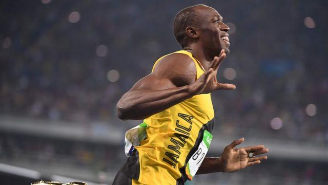 Usain Bolt após final