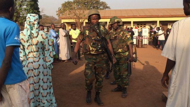 Security was tight in Tamale, northern Ghana, as voting began