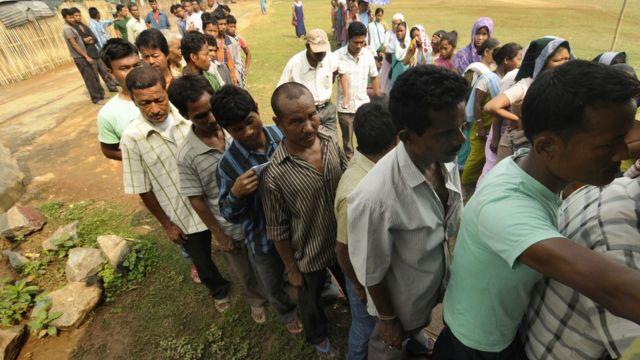 মেঘালয়ে ২০১৪ সালের নির্বাচনের সময় একটি ভোট কেন্দ্র