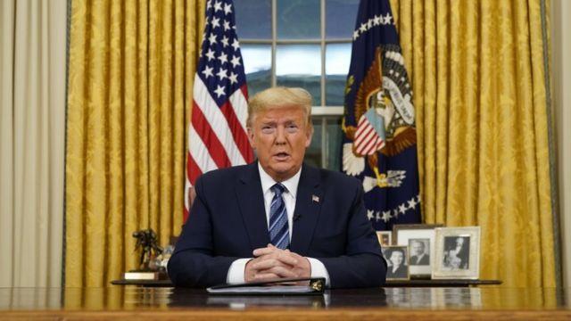 """Президент Трамп заявил, что Европейский союз """"не смог принять те же меры предосторожности"""", что и США"""