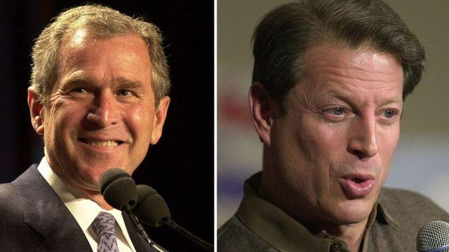 Bush and Gore