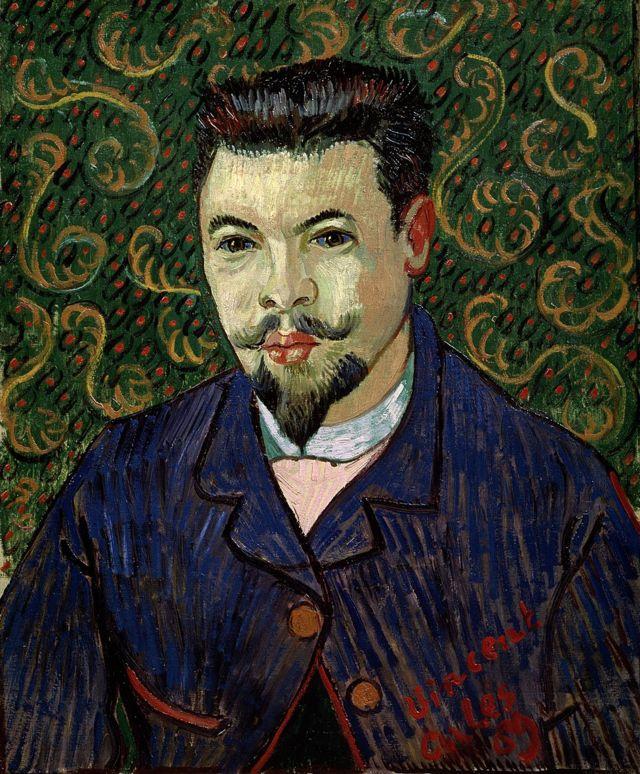 El doctor Rey pintado por Van Gogh
