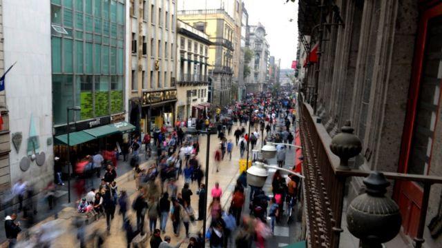 La calle Madero en el centro de Ciudad de México