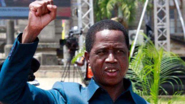 Le président zambien Edgar Lungu