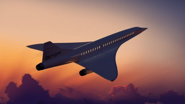 Boom's supersonic airliner - Ilustración