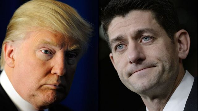 Five issues where Trump and Ryan clash