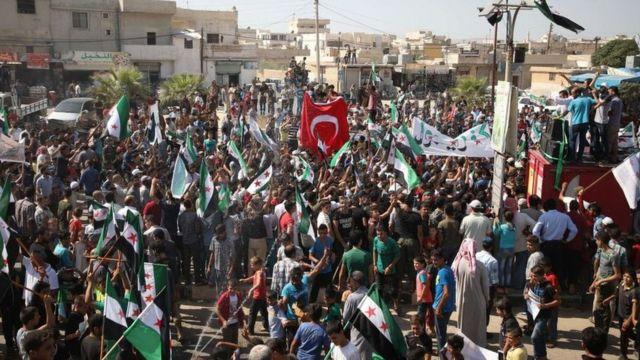 تظاهرات ادلب