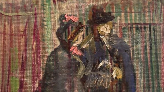 Detalle de mujeres en el cuadro