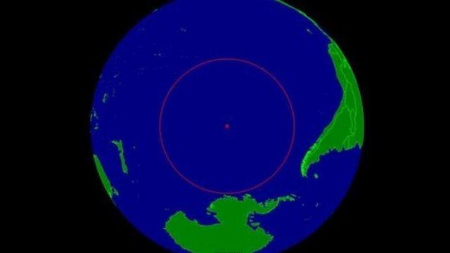 La ubicación del Punto Nemo en el planeta