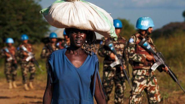 بعض جنود قوات حفظ السلام في جنوب السودان