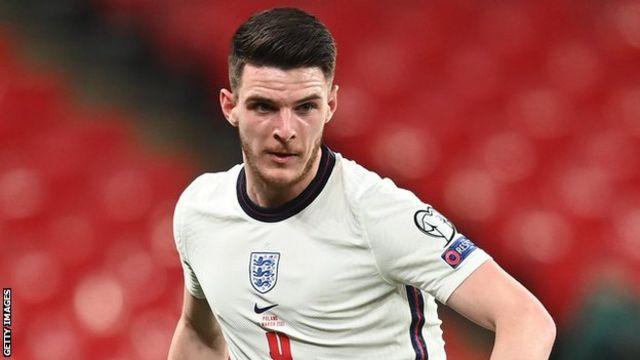 Declan Rice on England duty