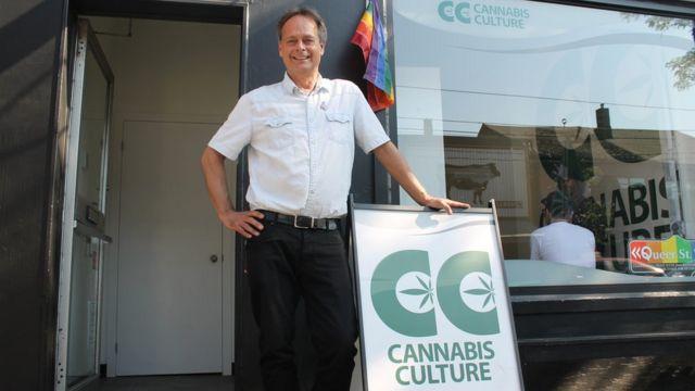 Marc Emery em frente a sua loja