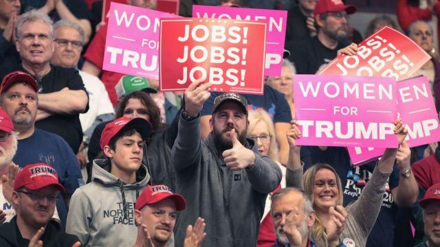 Evento de campanha de Trump