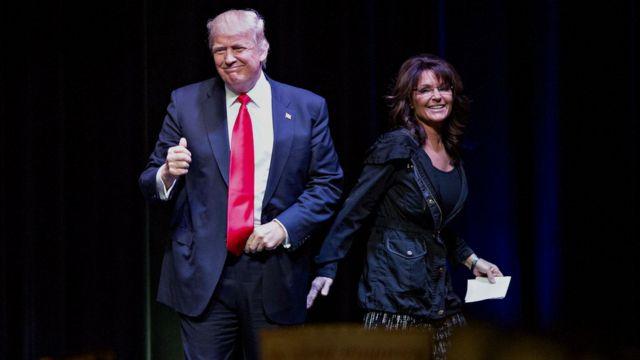 Дональл Трамп и Сара Пейлин