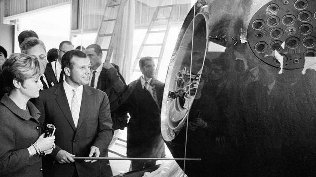 La cápsula espacial en la que viajó Gagarin