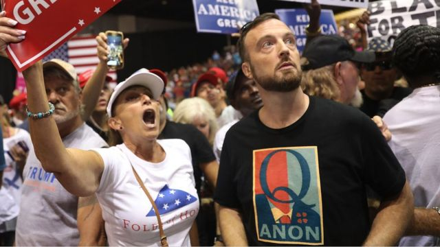 Seguidores de Trump en Tampa, Florida.