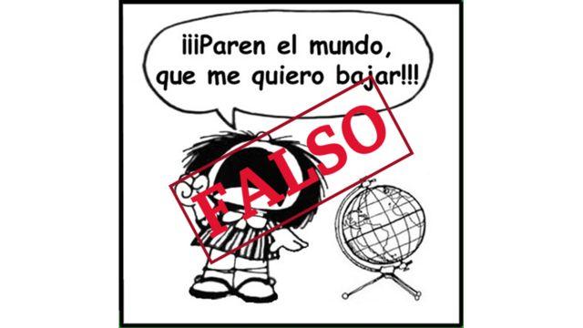 Viñeta de Mafalda falsa