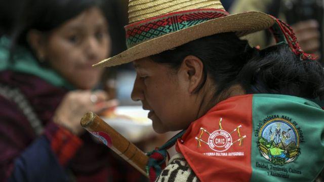 Líder indígena nasa