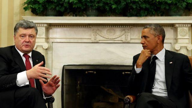 Петр Порошенко и Барак Обама в Белом доме в сентябре 2014 года