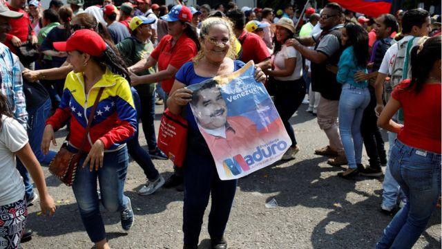 Marcha de apoyo a Maduro