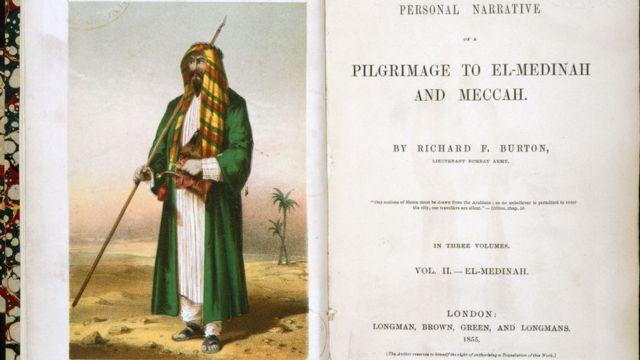 Портрет Бёртона в костюме шейха Абдула на титульном листе первого издания о путешествии в Мекку и Медину.