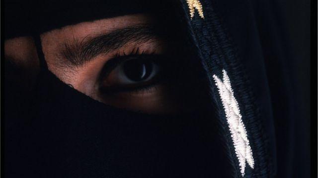 close-up de mulher saudita