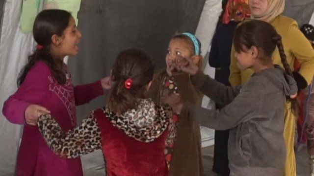 Children at refugee camp