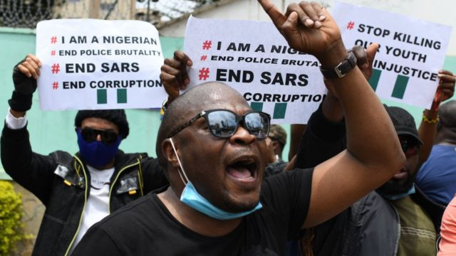 Demonstrasi warga Nigeria