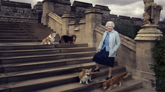 Official photo released by Buckingham Palace to mark the Queen's 90th