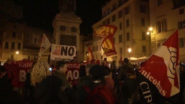 احتفالات في شوارع روما