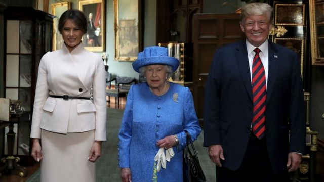 Мелания Трамп, королева Елизавета II, Дональд Трамп