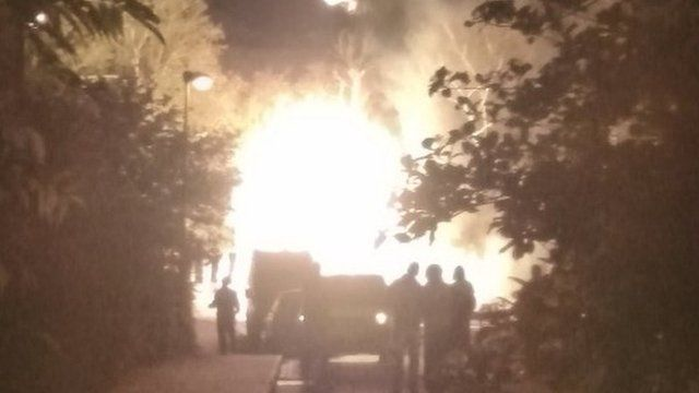 Gas main fire in Whitstable