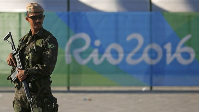 Militar trabalha na segurança da Olimpíada